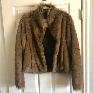 Abercrombie & Fitch Faux Fur Coat